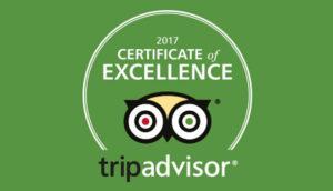 Certificat d'excellense Tripadvisor 2017 Provence Gourmet
